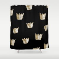 crown Shower Curtains featuring Crown Pattern by Georgiana Paraschiv