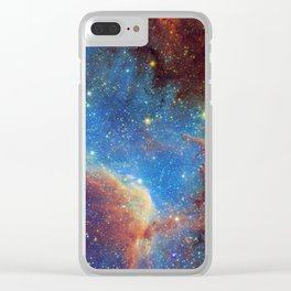 North America Nebula 2 Clear iPhone Case