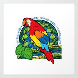 Macaw Save the Amazon Art Print