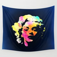 marilyn Wall Tapestries featuring Marilyn by Fimbis