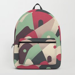 Abstract mountains graphics Backpack