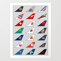 Tail FIns Collection large Art Print