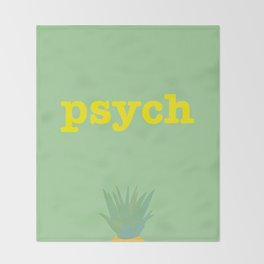 Psych! Throw Blanket