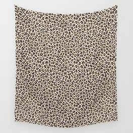 BLACK and WHITE LEOPARD PRINT – Ecru | Collection : Leopard spots – Punk Rock Animal Prints. Wall Tapestry