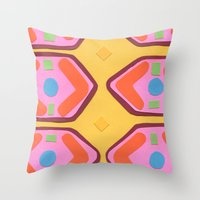 deco Throw Pillows featuring Deco by Hollis Campbell