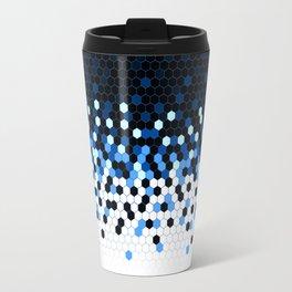 Flat Tech Camouflage Reverse Blue Travel Mug