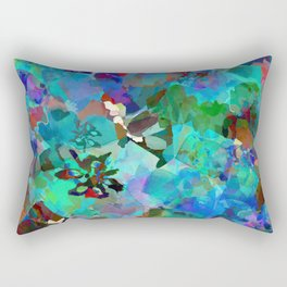 Hawaiian Jungle Batik Rectangular Pillow