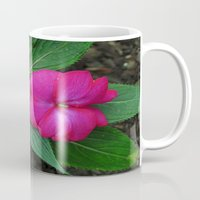 hot pink Mugs featuring Hot Hot Pink by Nevermind the Camera