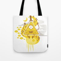 "bill Tote Bags featuring ""Dreamsphere // Bill"" by Insane-Dorito"