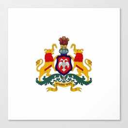 Seal of Karnataka Canvas Print