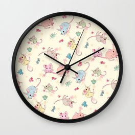 Desert Mices Pastel Wall Clock