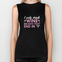 I Only Drink Wine Biker Tank