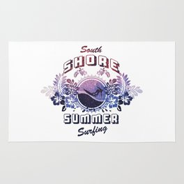 South Shore Summer Surfing Rug