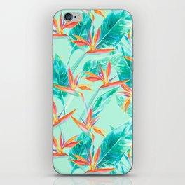 Birds Of Paradise Mint iPhone Skin