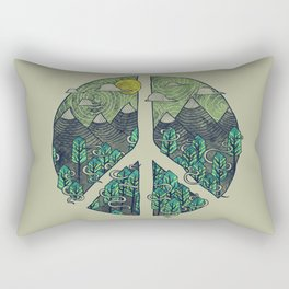 Peaceful Landscape Rectangular Pillow