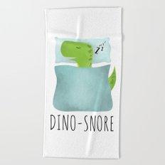 Dino-Snore Beach Towel