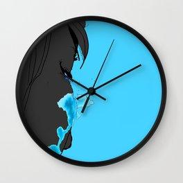Cyan Tears Wall Clock