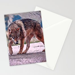 Wolf Pack Leader Stationery Cards