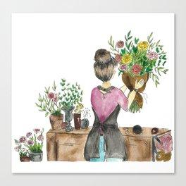 Florist Canvas Print