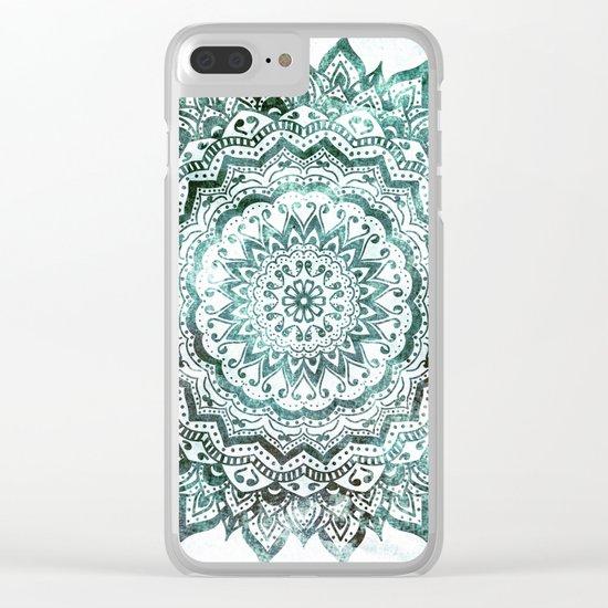 Emerald Jewel Mandala Clear iPhone Case