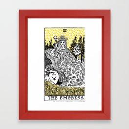 Modern Tarot Design - 3 The Empress Framed Art Print