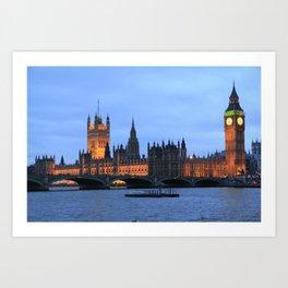 The British Parliament Upon Thames Art Print