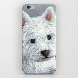 Dog 137 White Westie iPhone Skin