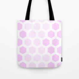 Pink Hex Tote Bag