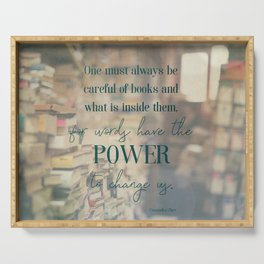 The power of books - Book Quote Collection Serving Tray