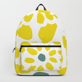 Flowers in Yellow Backpack