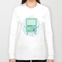 bmo Long Sleeve T-shirts featuring BMO love by fox bear designs