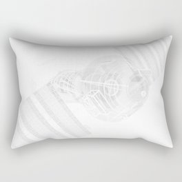 Explorer White and Grey Rectangular Pillow