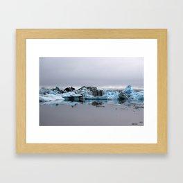 Icebergs at Glacier Lagoon Jökullsárlon Framed Art Print