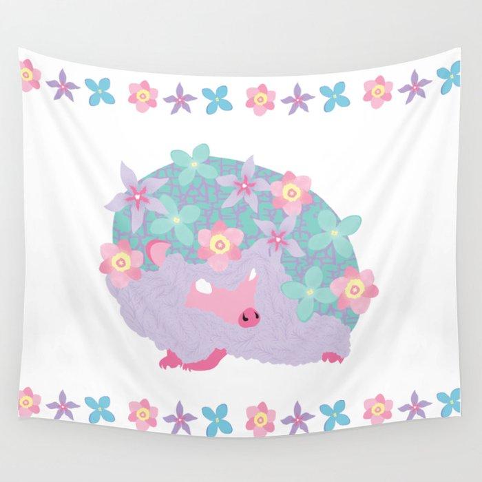 Spring Hedgehog ~ FAIRY VAR Wall Tapestry