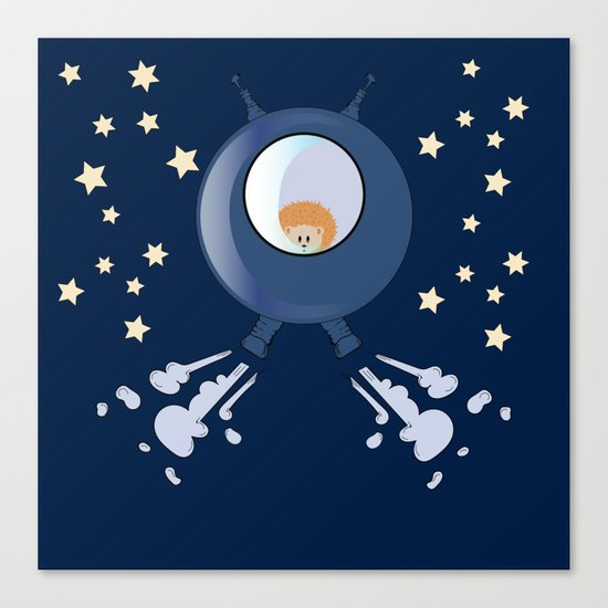 Hedgehog in space. Canvas Print