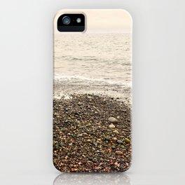 Dungeness Shoreline, Pebble Beach, Washington Seascape, Juan de Fuca, Coastal Photography iPhone Case