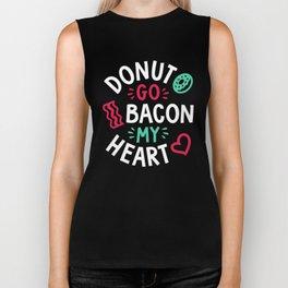 Donut Go Bacon My Heart Biker Tank