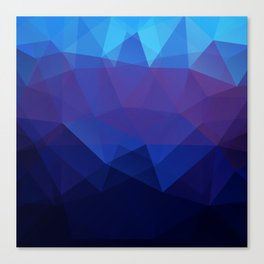 Blue abstract background Canvas Print