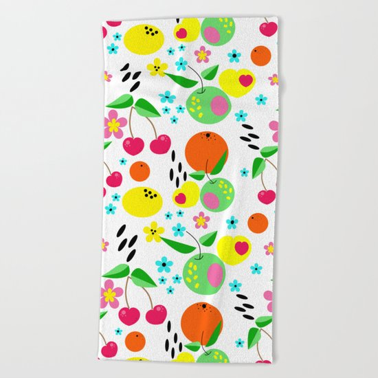 Fruity summer . Beach Towel