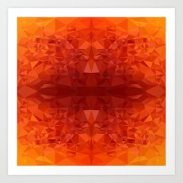 fire chrystal Art Print