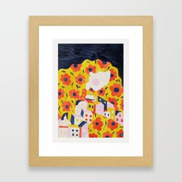 Flower Woman Framed Art Print