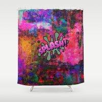 grafitti Shower Curtains featuring Splash by haroulita