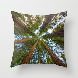 Redwood Forest Canopy Throw Pillow