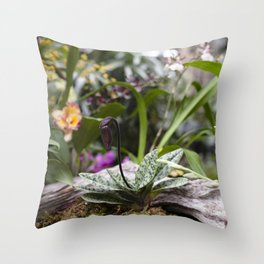Dainty Orchid Throw Pillow