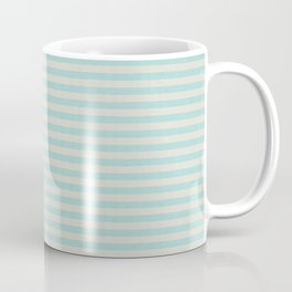 Stripes blue and beige #homedecor Coffee Mug