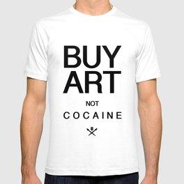 Buy Art Not Cocaine (black) T-shirt