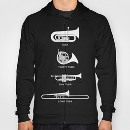 Funny Types Of Tuba | Marching Band Hoody