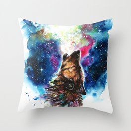 Moonlight singing Throw Pillow