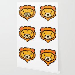 Pixel Lion Game Console Computer 16 Bit Vinatge Retro Gift Idea Wallpaper
