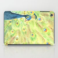 peacock iPad Cases featuring Peacock by Annie Mason